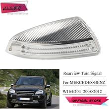 ZUK Für Mercedes Benz ML300/350/500 GL350/450 C200/230 Rück Seite Spiegel Blinker LED licht 2007 2008 2009 2010 2011 2012