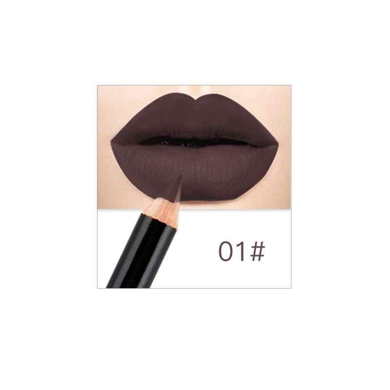 Nouveau Type 12 couleurs crayons à lèvres mat lèvre Liner imperméable à l'eau lisse coloré soie nue rouge à lèvres stylo longue durée Pigments lèvre TSLM1