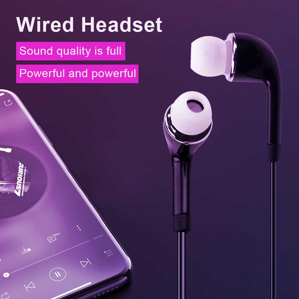3.5mm Jack douszne słuchawki przewodowe słuchawki Stereo słuchawki przewodowe z mikrofonem do Samsung S4 dla systemu android telefony z systemem iOS