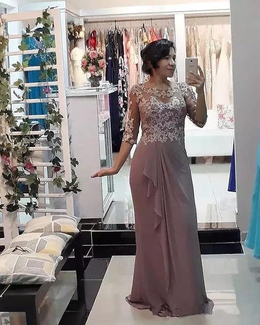 Фото элегантные кружевные платья для матери невесты иллюзионное платье