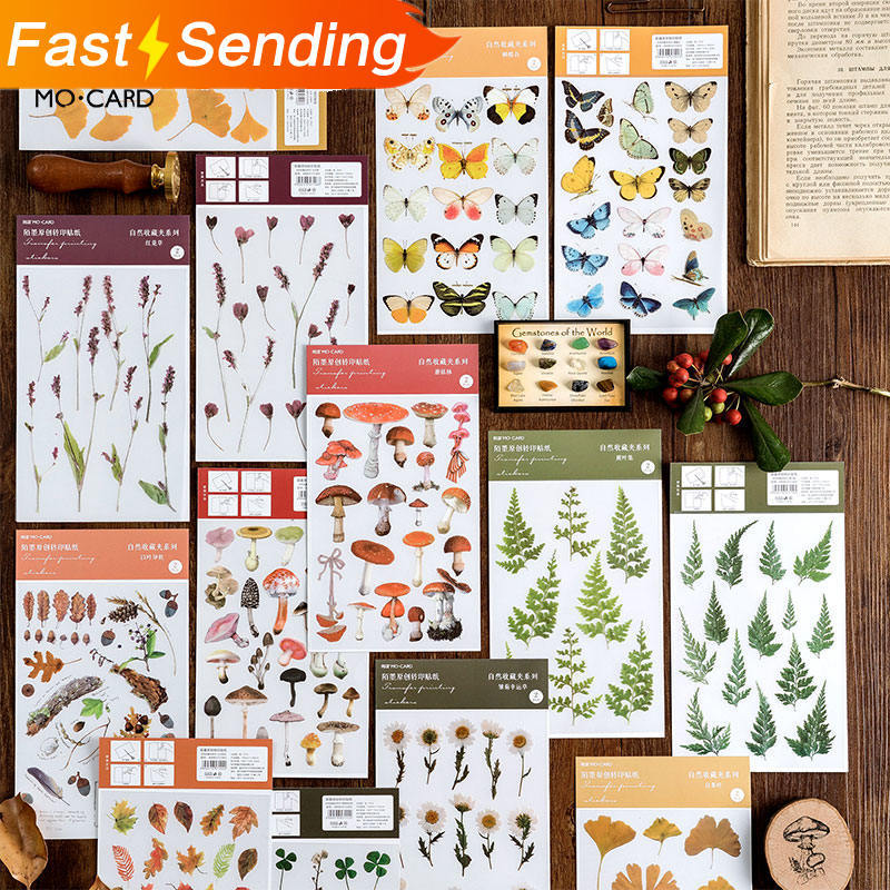 JIANWU 2pcs  Nature Sticker Decorative Labelling Planner Bullet Journal Sticker Scrapbooking DIY School Supplies Kawaii