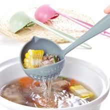 1 шт. креативные 2 в ложке ситечко с длинной ручкой ложки для супа посуда для приготовления пищи пластиковый ковш mx73739
