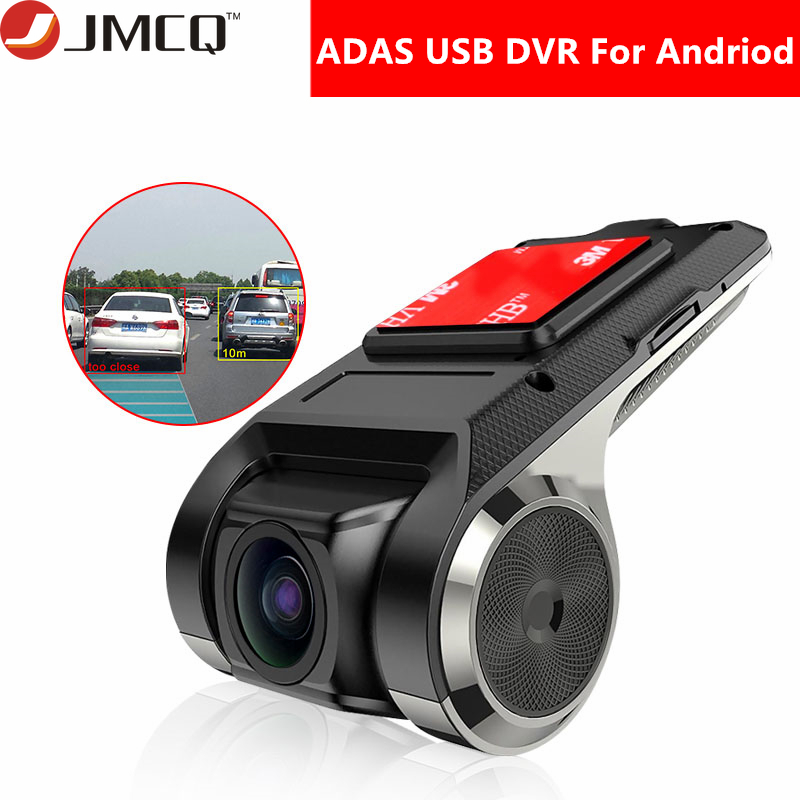 JMCQ USB ADAS Car DVR Dash Cam Full HD For Car DVD Android Player Navigation Floating Window Display LDWS G-Shock