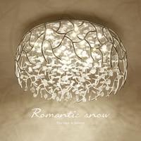 Living room led ceiling lamp round Nordic minimalist modern crystal lamp lighting warm aisle corridor bedroom ceiling light