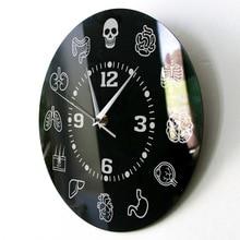 Human Body Internal Organs Anatomy Wall Clock Anatomical Medical Wall Art Silent Sweep Wall Clock Doctors Biology Student Gift