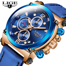 Relogio Masculino LIGE Mens Watches Top Brand Luxury Men Fashion Business Watch For Men Casual Waterproof Leather Quartz Watch 2018 new men watches top brand luxury lige fashion business waterproof quartz watch men leather sports watch relogio masculino page 2