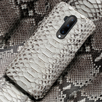 Genuine Python Leather phone case for Oneplus 7T 7 Pro Nord 6 6T 8Pro 8 pro Luxury Snakeskin Cover For One Plus 7T Pro 5 5T 7