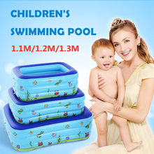130CMx90CMx48CM Children Inflatable Pool Adult Pool Baby Tub Baby Home Use Paddling Pool Inflatable Square Swimming Kids Pool