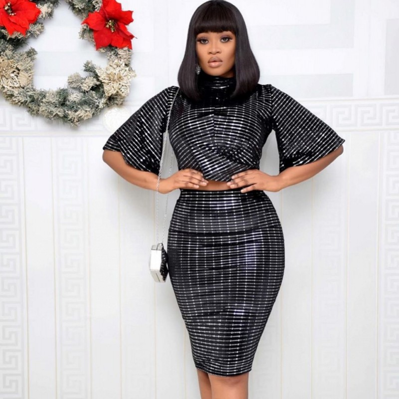 2 Piece Sets 2020 New African Elastic Bazin Baggy Skirts Rock Style Dashiki SLeeve Famous Suit For Lady/women Tops And Skirts