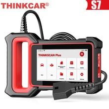 THINKCAR Thinkscan Plus S7 OBD2 Diagnostic Scanner Oil DPF BAT TPMS Reset SRS BCM ECM TCM IC AC ABS System OBD 2 Car Diagnosis