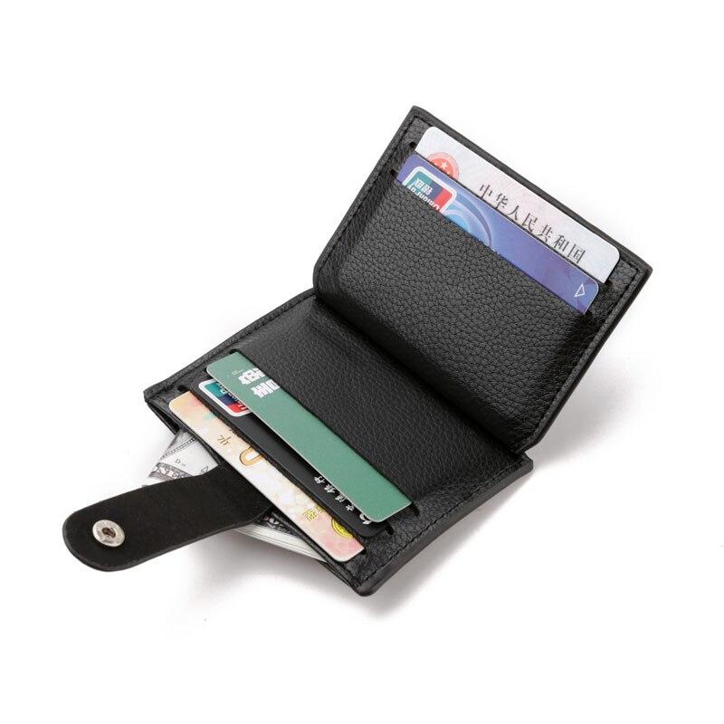 Модный унисекс держатель для карт, женский тонкий маленький кошелек из искусственной кожи, ретро кожаный мужской кошелек, деловая посылка