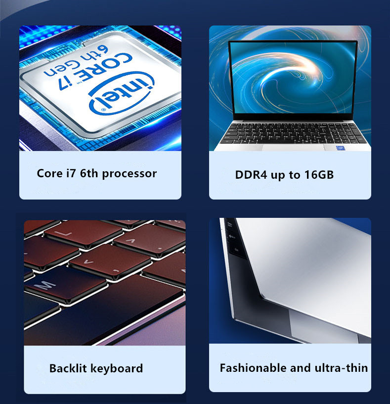 new15.6 inch I7-6560 16G RAM 128G/256G/512G/1TB SSD With 1920*1080HDScreen Fingerprint recognition Backlit Keyboard Laptop