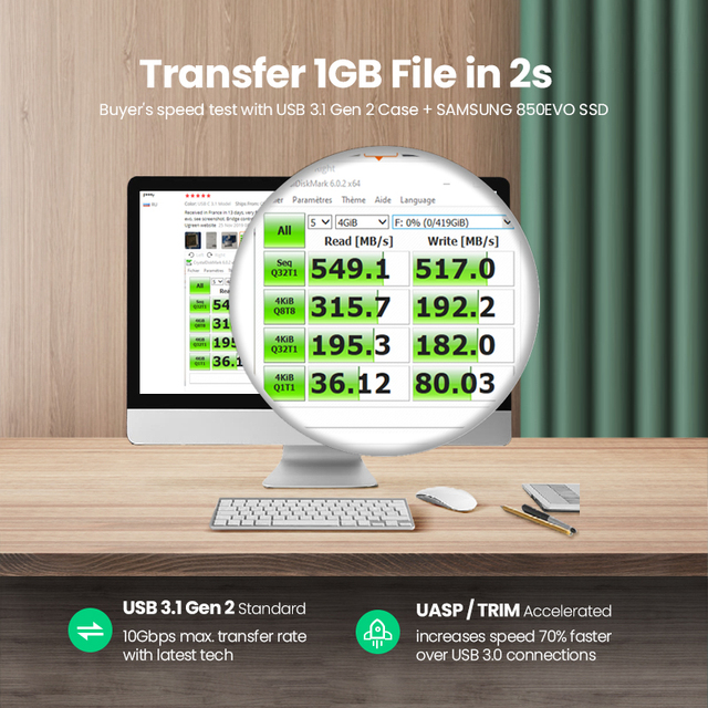Ugreen 2.5 HDD Case SATA to USB 3.0 Adapter External Hard Drive Enclosure for SSD Disk HDD Box Type C 3.1 Case HD HDD Enclosure 3