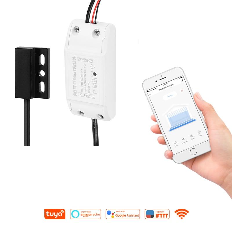 IFTTT Alexa Google Home Tuya Smart Remote Smart Timing WiFi Garage Door Opener Remote Control Smart Life APP