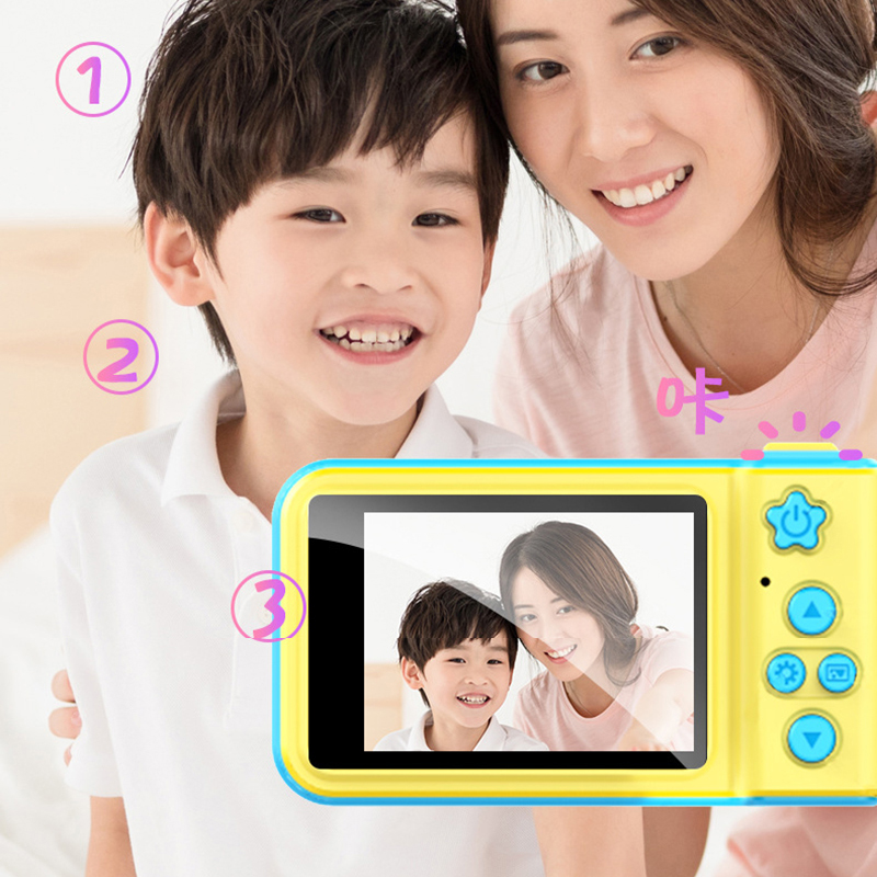 Mini Children Camera Kids Digital Camera Large Screen Cute Camera  Baby Birthday Gift Educational Toys Dropshipping