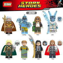 8pcs Avengers Endgame Loki Odin Laufey Frigga Thor Iron Man Hawkeye War Machine Scarlet Witch Building Blocks Kids Toys