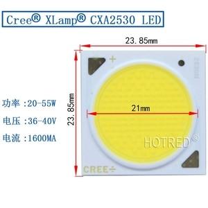 Image 5 - 2 Stuks Originele Cree Cxa 2530 CXA2530 CRI80/90 Gemakkelijk Wit Warm Wit 3000K 50W 60W cob Led Diode Emitter Lamp Chips Plant Licht