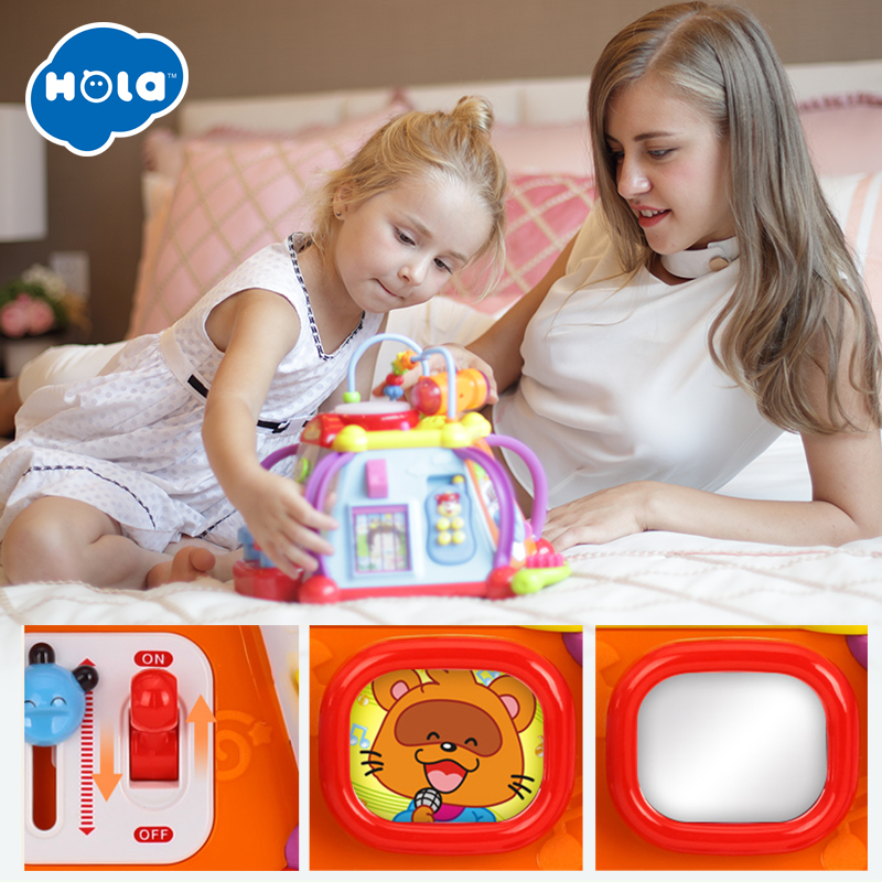 Educational Baby Toddler Kids Toy Musical Activity Cube Play Center with 15 Functions Skills Learning Educational Toys Gifts in Toy Musical Instrument from Toys Hobbies