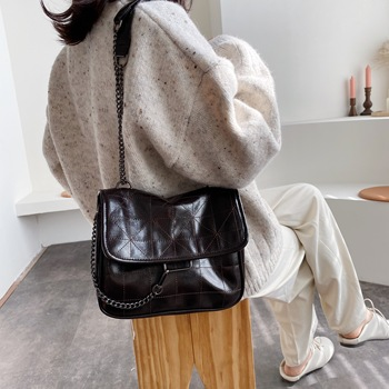 Soft PU Leather Crossbody Bags For Women 2020 Chain Design Shoulder Messenger Bag Lady Small Handbags Black Bags