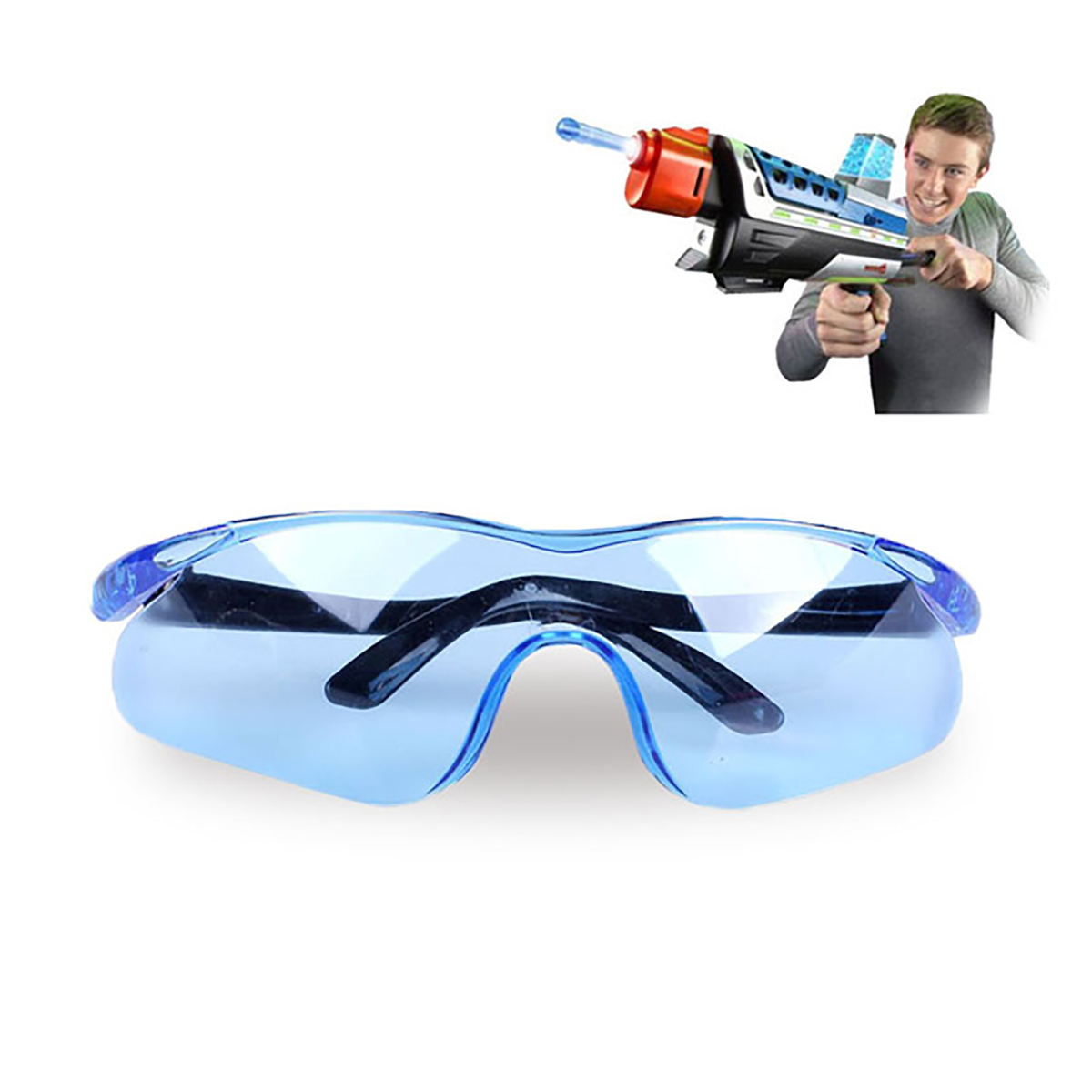 1PC Blue Plastic Durable Toy Gun Glasses For Nerf Gun Accessories Protect Eyes Unisex Outdoor Children Kids Classic Gifts
