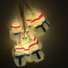 Santa Snowman Battery Light String Led Christmas Party Gift Decoration LED Lighting Pendant