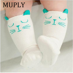 Unisex Lovely Cute Cartoon Fox Cat Panda Kids Baby Socks Girl Boy Baby Toddler Socks Animal Infant Soft Cotton Knee Socks
