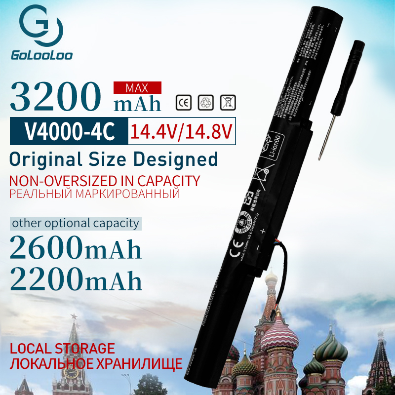 Golooloo 4 cells laptop battery for Lenovo Y50C Z41 70 ideapad Z51 70 Z41 Z51 500 L14S4A01 L14L4E01 L14M4A01 L14M4E01 L14S4A01-in Laptop Batteries from Computer & Office