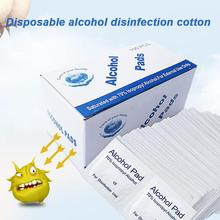 100pcs/bag Disposable Alcohol Prep Swap Pad Wet Wipe for Antiseptic Skin Cleaning Care Jewelry Mobile Phone Clean