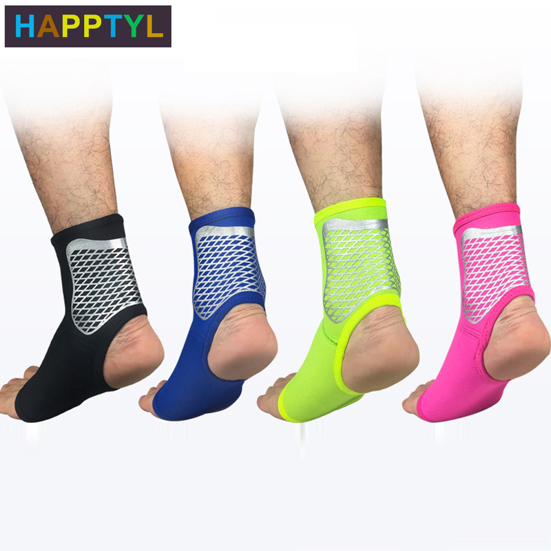 HAPPTYL 1Pcs Ankle Support,Adjustable Ankle Brace Breathable Nylon Material Super Elastic And Comfortable, Perfect For Sports