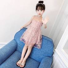 Girls Summer Dress Hollow Lace Tulle Skirt Fashion Dresses Bohemian Kids Dress Floral Teenage Girls Clothes 6 8 10 12 14 Years teen girls summer dress floral print off shoulder fashion chiffon dress bohemian holiday kids dress for 9 10 11 12 14 16 years
