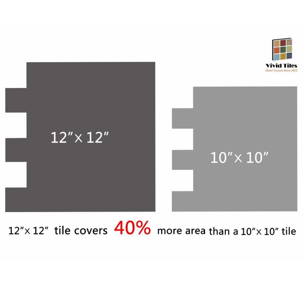 Vividtiles tamaño grande 12*11,75 pulgadas autoadhesivo impermeable papel pintado Peel and Stick mosaico 3D ladrillo efecto azulejos-Hoja