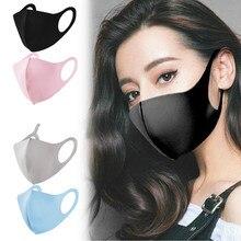 20/100pcs Black/Pink Washable Reusable Kpop Face Mouth Mask 3D Cloth Dust Safety Fashion Designer Women Men Bts Mouth Masks Bulk