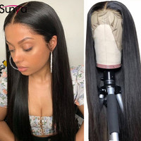 Sunya 360 Straight Lace Frontal Wig Brazilian full lace human hair wigs Pre Plucked bleached knots Remy HD Transparent Lace Wigs