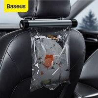 Baseus-cubo de basura para coche, organizador automático, bolsa de almacenamiento, bolsillos de descarga, accesorios para coche