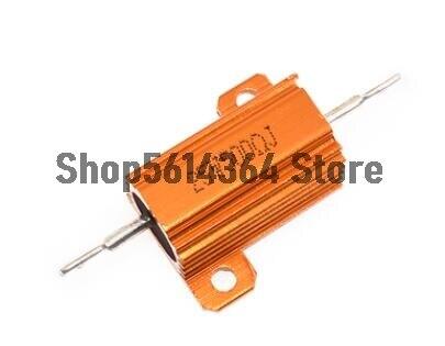 25w potência 5% 0.1r/1r/3r/4r/5r/8r/10r/20r/100r/200r/500r/1kr/5kr/10kr ohm resistência valor alumínio resistor