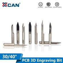 XCAN 10pcs 30 40 gradi V Forma di Fresatura Cutter 3.175 millimetri (1/8 ) shank Carbide PCB Punte Dellincisione di CNC Router Strumento
