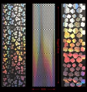 Image 5 - 8 sztuk holograficzne naklejki foliowe na paznokcie kolorowe naklejki Transfer gwiaździste naklejki suwaki do dekoracji tipsy narzędzia do manicure