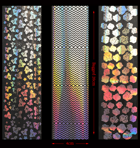 Image 5 - Pegatinas holográficas de colores para decoración de uñas, accesorios de manicura, 8 piezas