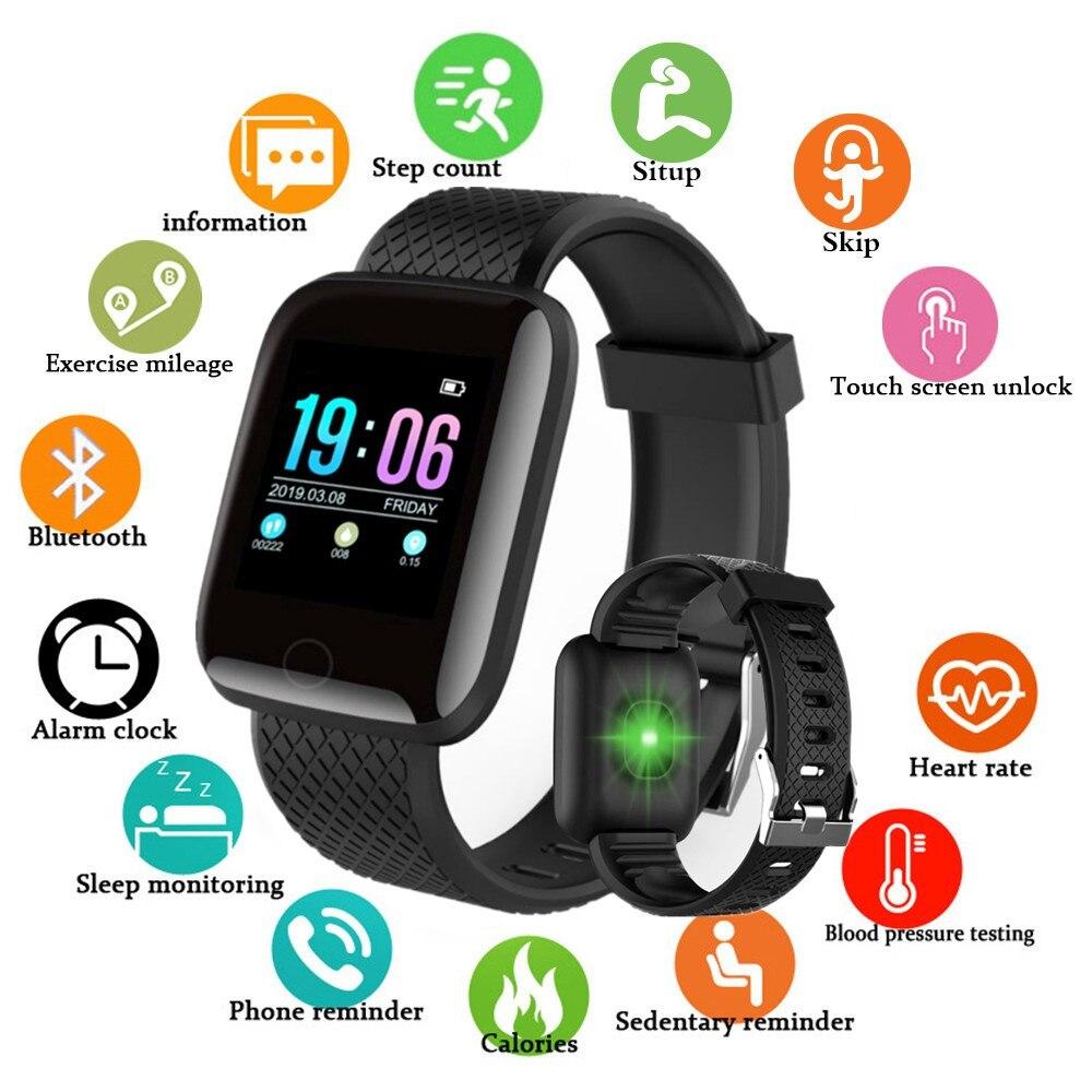 Abay masculino mulher relógio inteligente digital pressão arterial e freqüência cardíaca esporte rastreador de fitness bluetooth smartwatch para ios android