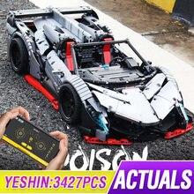 3427 шт. MOC RC Technic Car The Veneno Roadster Power Function модель автомобиля строительные блоки кирпичи Дети DIY игрушки рождественские подарки