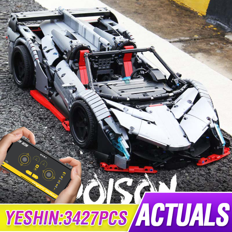 MOC RC Technic Car The Veneno Lamborghinis Roadster Power Function Car Building Blocks Bricks Kids Toys With Lepining 10559