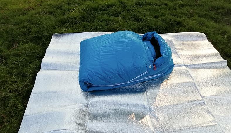 para baixo 800fp tipo múmia saco de dormir