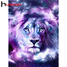 Huacan 5D DIY Diamond Painting Lion Diamonds Embroidery Animal Kits Full Square/Round Decorations Home