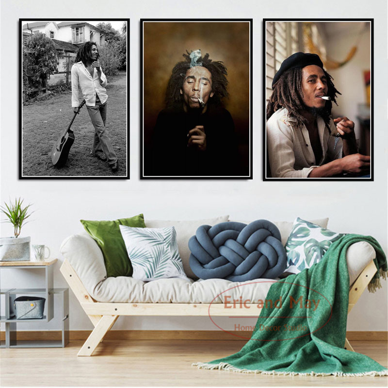 Bob Marley Singer Star Rip Canvas Painting Posters And Prints Wall Art Picture Music Decoration Home Decor Cuadro Decorativo