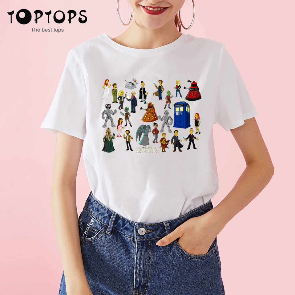 Vrouwen Doctor Who Dr Who Daleks Roeien Te Overwinning Sitcoms Harajuku t-shirt Unisex Skateboard Tshirt Mannen Kleding Streewear