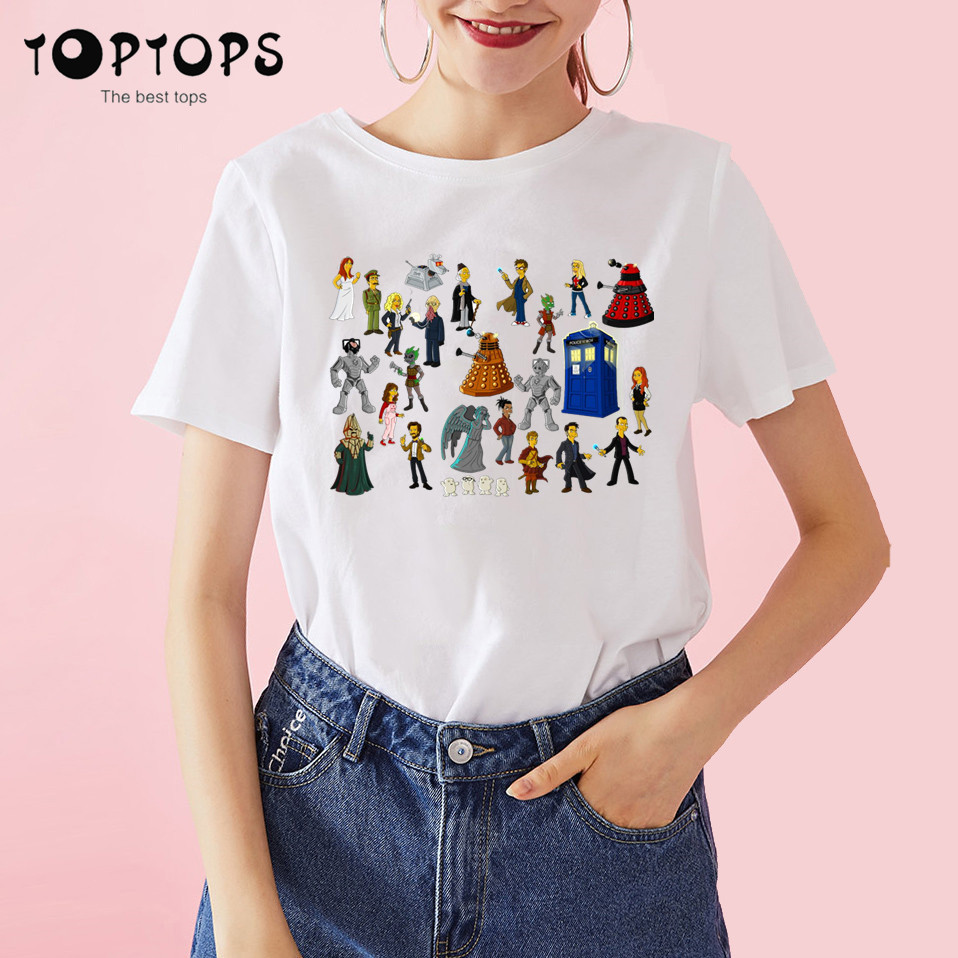 Women Doctor Who Dr. Who Daleks Exterminate To Victory Sitcoms Harajuku T Shirt Unisex Skateboard Tshirt Men Clothes Streewear