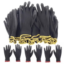 Labor Lnsurance Work Gloves PU Gloves Nylon Protective Construction Auto Repair Gloves Multifunctional Wear-Resistant Gloves