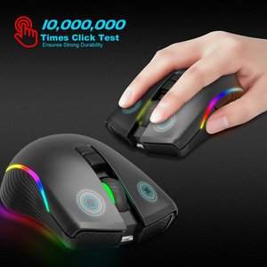 Image 5 - ZERODATE new TYPE C fast charging mouse wireless mouse 2.4G colorful breathing light black suitable for notebook desktop PC