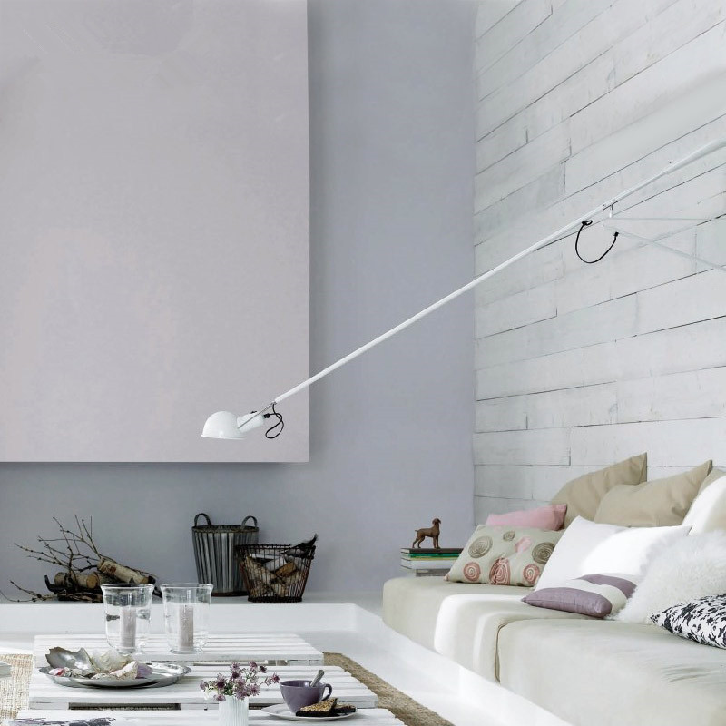 Image 3 - Artpad Modern Adjustable Long Swing Arm Wall Lamp Lights For Reading 360 Degree Rotatable Flexible Vintage Black Wall Lamp LED-in LED Indoor Wall Lamps from Lights & Lighting