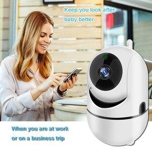 Image 3 - Babá eletrônica com câmera, câmera de vídeo bidirecional 1080p HD, wi fi, babá para bebê adormecido, áudio, visão noturna, segurança residencial, câmera, babyphone